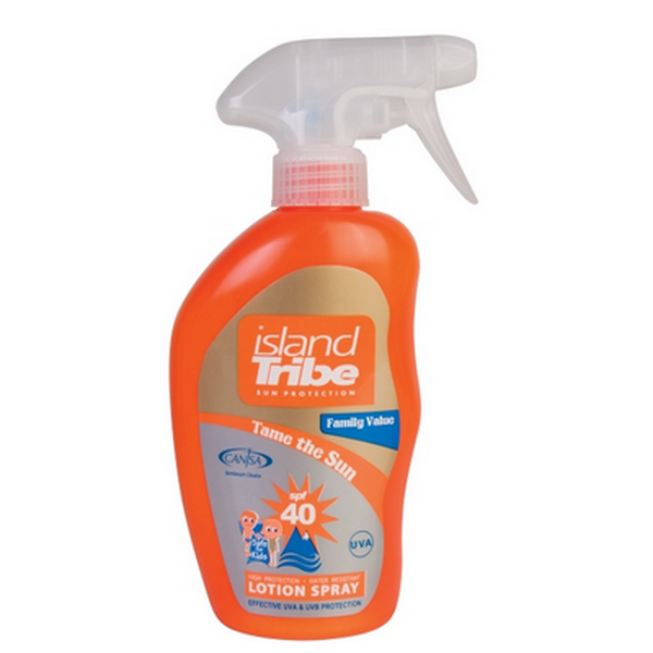Island Tribe SPF 40 Light Lotion Trigger Spray 300 ml voor de hele familie