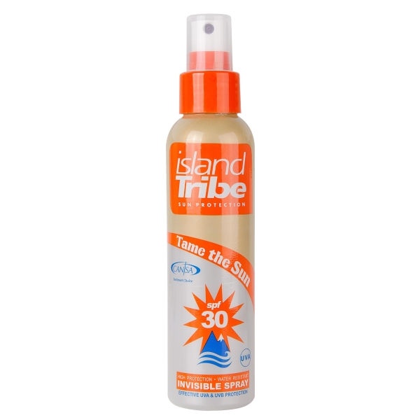 island Tribe Sun Protection clear gel spray SPF 30 is transpiratie en waterbestendig